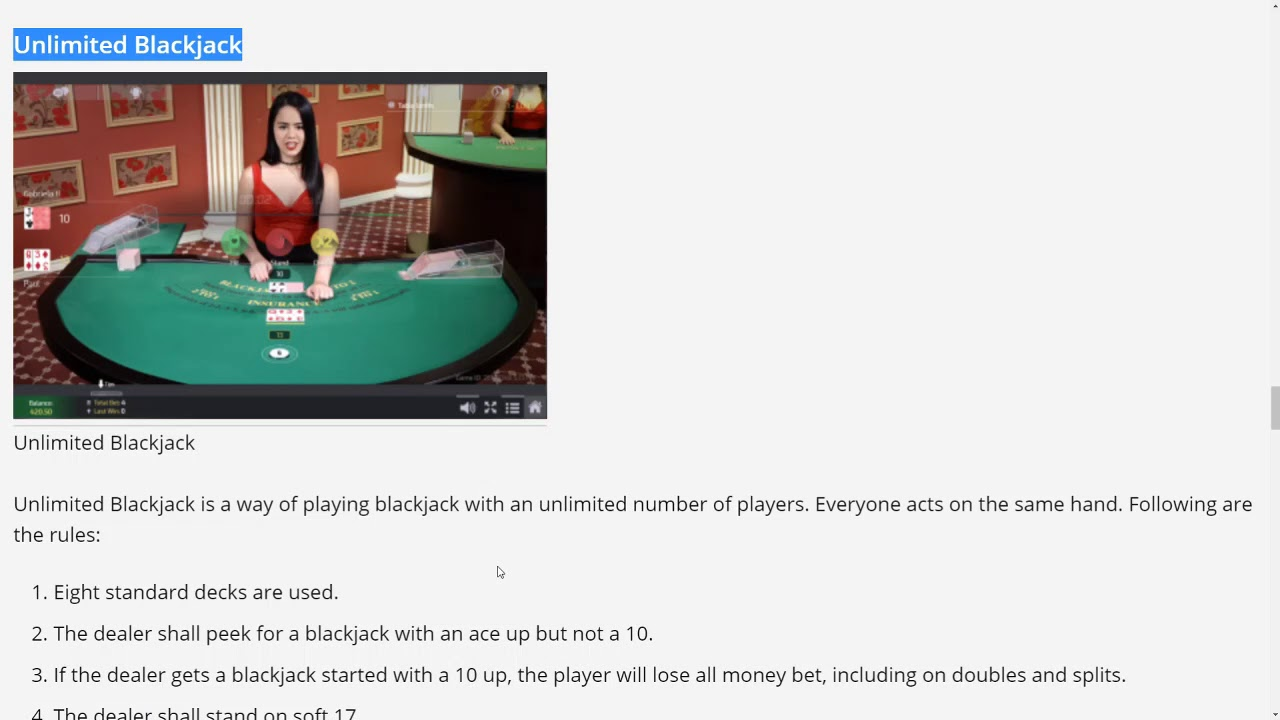 EZUGI Review by Wizard of Odds. ​Unlimited 21® Auto-Splits® and Casino Hold'em® Poker™.