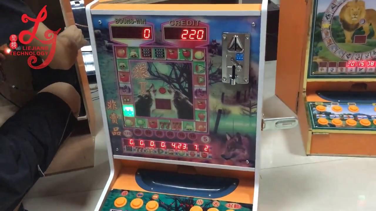 Kenya Africa Desktop Coin Operated Mini Arcade Casino Slot Mini coin operated game machine cabinet