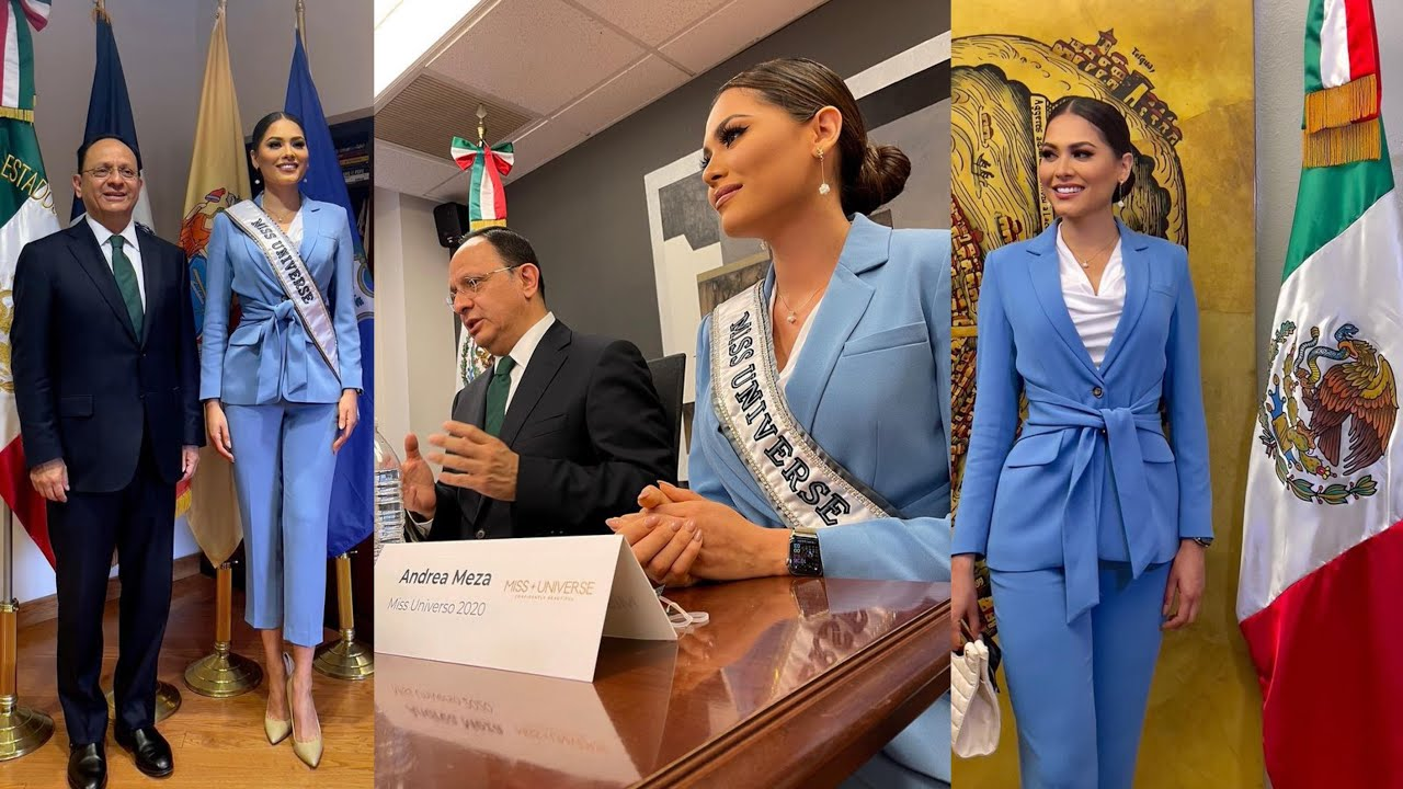 Miss Universe 2020 Andrea Meza Visited The Consulate General of Mexico 🇲🇽 In NEW YORK